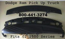 I have a 2 Piece Replacement Top for Sale Fits 2002 Dodge Ram 1500 Series and 03-05 / 1500-3500 Series Pick Up Truck Factory Black Primer Paint Picture shows the installed 2 Piece Dash Board installed painted with Dark Taupe Color