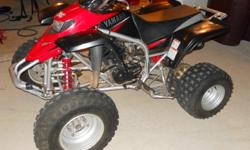 2003 yamaha blaster 200cc two stroke.Very fast and runs great. Has very low hours. Call 620-382-4283
