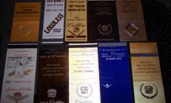 10 Cadillac Matchbook Covers all for $20.00