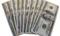10x$100 dollar crisp bills.