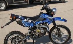 NEW GAS ELT. START 125CC DRIT BIKE 775.00ALL GAS UP AND READY TO GO LAYAWAY WELCOME WE HAVE RED / BLUE / GREEN / BLACK / YELLOW WE ARE USA POWER SPORTS LLC 6521 N US HWY 41 SHELBURN IN. 47879 -- OR -- OPEN MON TRU FRIDAY 9AM TIL 6 PM THANK YOU