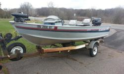 14? ALUMACRAFT BACKTROLLER Very Clean Console steering boat with flat floor, built in live well, bilge, and lights. All systems work. Carpet and finish is in great shape with little wear and tear. 14? Long, 20? Transom, 72? Wide on a heavy