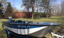 15' 1982 Grumman Sportsman Boat for Sale by Owner! Features: 35 HP Evinrude Outboard Motor Custom Roller Trailer (W/Spare Tire) MINN KOTA Troll Motor Hummingbird Locator New Boat Cover