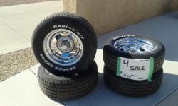 "15 "" Tires And Wheels Ford Pattern $200.00 Call --"