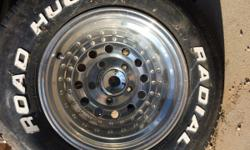 """15x10"""" wheels for ford truck. Have all four, lugs and caps included. $300 obo. Also willing to trade."""