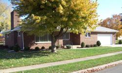 This is a move in ready 2 bed 1 bath brick ranch on crawl space with 2 car attached garage. Neutral carpet over hard wood floors (living, dining and bedrooms). Carpets professionally cleaned. Cozy gas fireplace, updated eat -in kitchen with oak cabinets,