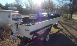 16' new carpet new seats 25hp sale or trade