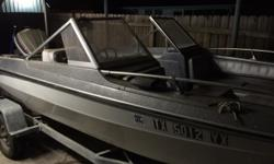 Boat has never been in salt water and comes with trailer. Boat equipped with 85 hp Evinrude outboard motor. Unused for 8 years. Selling as is.