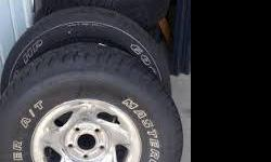 3 factory chrome rims 16 inch 5 lug with caps from a dodge ram pickup truck, tires on rim are no good. call james 404-624-3553