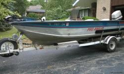 1985 17 ft. Smokercraft aluminum fishing boat, with 70 hp Johnson outboard, on a EZ loader trailer. Very little use. All the extras, live well, Minn Kota trolling motor, Impulse fish finder, 2 Big Jon downriggers with downrigger platform. Console steering
