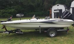 Genuine Triton from bow to stern. Tournament proven interior layout and high-performance hull. Brings riding comfort, performance and style to its size class. It's easy-towing and economical to fuel. -Triton Trailer -90 horsepower Mercury motor -2