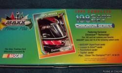 I have a complete set of 1995 Maxx Premium Plus - Chromium Series - Racing Cards by Nascar 183 cards in the set. Includes Drivers, Cars, Trucks, Races, Rookie of the Year and Check List I am breaking up the set and selling the cards individually. Do you