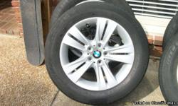 """I have a set of four 18 inch BMW rims wrapped with """"like new"""" Radial XSE 255 55 R18's they were on an X5 before and I don't have that car anymore. the rims are almost brand new as well they were my spare set so I never had them on the car. if your are"""