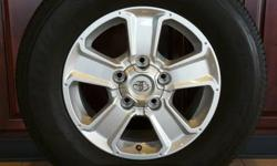 """18"""" TOYOTA TUNDRA WHEELS WRAPPED IN 275/65/R18 BRIDGESTONE DUELER TIRES!!  ALSO IN STOCK NEW AND USED WHEEL AND TIRE PULL OFFS FOR CHEVY TRUCKS,CAMARO,CORVETTE,FORD TRUCKS,MUSTANG,DODGE RAM,CHARGER,CHALLENGER,JEEP"""