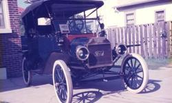 1913 Ford Model T touring, blue with new brass radiator, restored and in good condition, in storage in Oklahoma City, OK. Paint not perfect. The vehicle is all there. Everything that it came with. - See more at: