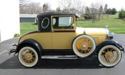Make: Ford Model: Model A Year: 1929 Body Style:  Exterior Color: Yellow Interior Color: Gray Doors: Two Door Vehicle Condition: Excellent  Price: $16,000 Mileage: Fuel: Gasoline Engine: 4 Cylinder Transmission: