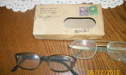 This box has two postage stamps on it one is a 3 cent purple stamp and the other is a 1 cent green . Return postage is: Ric Kee Eye Hospital 207 East Watayga Ave Johnson City, Tenn The Box is in good condition no date could be found. Buyer pays all