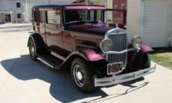 1931 Essex 4 Door Street Rod. All steel. Dressed Like New 350, 350 AT, IFS, Tubular Style, Tilt, Seatbelts, SS S TL Firewall, SS T Custom Dash, JVC / AM / FM Remote CD, Chrome Wire Wheels, leather travel trunk, clean chassis, Disc Brakes, 3 Mirrors, Dual