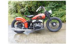 1933 Harley Davidson VLD, Cool period style bobber made from nice original bike. I've owned this bike more than 10 years. Original engine, frame, forks, tanks and wheels. Hand painted logo on tank. Rebuilt engine, starts easy runs good. Great bike that