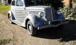 SHARP 1935 FORD 2 DOOR SLANT BACK SEDAN. HAS 1976 SLANT 6 MOTOR WITH AUTOMATIC TRANSMISSION AND RUNNING GEAR. NEEDS NO BODY WORK AND IS READY TO BE PAINTED. RUNS GOOD. CLEAN TITLE. BOOKED ON A 6-POINT SCALE. CALL NORM @ 605-845-6027 FOR MORE