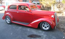 "1936 DODGE , HUMP BACK.  COMPLETELY RESTORED IN 2010. 350 CHEVY SHORT BLOCK W/ 350 AUTOMATIC TRANSMISSION.  8"" FORD REAR END; ADJUSTABLE COIL OVER SHOCKS; MUSTANG II  FRONT END WITH POWER STEERING AND DISC BRAKES. ELECTRIC WINDOWS ;"