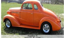 1938 Chevrolet Coupe- , Call for mileage Address: Sarasota, FL 34238 View our website: www.freerek15.com Notes: This is a beautiful street rod that is ready to hit the road. 350 V8 / auto transmission / leather / air conditioning / sound