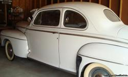 1946 Ford Super Deluxe 2DR Coupe ..Restored ..97,309 Miles ..100hp Cast Iron Engine ..3-Speed Manuel Transmission ..New Chrome Dash ..Original Tube Radio Works ..Radio even has floor foot button to/ ..Change stations..although the / ..Radio repairman