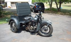 This cool servi-car was a three-wheeled utility vehicle manufactured by Harley Davidson from 1932-1973. The G-series was originally designed as a mechanics vehicle. The mechanic would ride his to the broken down car, get it running, then drive it back to