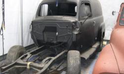 1948 Ford Panel Truck. This truck has been sandblasted/media blasted and epoxy primered approximately 4 years ago. This truck was originally from Texas, so it is quite solid. The only rot it has is on the drivers front floor, other than that it does have