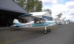 Get ready for your next sky high adventure with this 1952 Cessna 170B. It has 1,1465 total time hours and is powered by an O-300-D Continental Engine with zero hours. With a sleek and sporty look that is dressed in new green and black, over