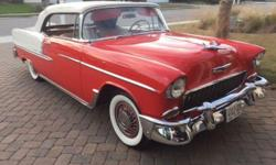 Send me an email at: leoniepollard@gmx.us . 1955 CHEVY CONVERTIBLE SURVIVOR CAR 2 OWNERS WITH 99,900 ORIGINAL MILES AND RUST FREE CAR GARAGE KEEP SINCE BOUGHT NEW. THIS CAR HAS HAD ONE REPAINT IN THE 80S AND IS DRIVER QUALITY. ALL THE CHROME AND INTIOUR
