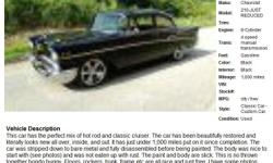 1957 Chevrolet 210- 1,000 Address: Sarasota, FL 34238 View our website: www.freerek15.com Notes: This car has the perfect mix of hot rod and classic cruiser. The car has been beautifully restored and literally looks new all over, inside, and