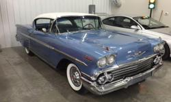 For more pictures email at: rustyrbbok@4x4man.com . This is a factory 1958 Chevrolet Impala Tri-Power 348 original drive train car. If you want the real deal and in excellent condition this is it.