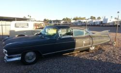 original Arizona car has all original parts and chrome in great condition. Car runs well has new exhaust has been re-wired from front head lights to back break lights(no electrical work has been done under dash). Car has been sanded and primed black, body