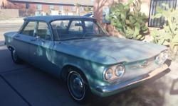 This 1960 4-Door Corvair 500 has spent its  entire life in Southern Arizona - original paint job  with some rust and sun effects, but nothing  major. Engine runs well enough to be a daily  driver! Interior is all original and in great