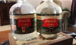 Two Coca Cola One Gallon Syrup Jugs Original Label and Cap Both $20.00