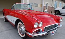 I am always available by mail at: richierffeneis@ukfamilies.com . 1961 Chevrolet Corvette, 245 HP, 4 Speed Manual. Numbers Matching. Ready for NCRS Judging, Red with red interior. White Coves. Everything on and in this Corvette is NOS new condition or has