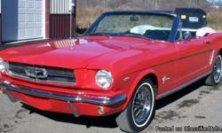 1964-1/2 Ford Mustang Convertible. This is a very rare chance to own number 812 from the first Mustangs ever built. This car has only been for sale twice in forty six years. This car is very original all numbers matching. The car has just undergone its