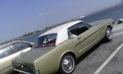 1 OWNER CLASSIC, ALL ORIGINAL 289 AUTOMATIC IN GREAT BEAUTIFUL SHAPE.. ALWAYS GARAGED..IF YOU ARE LOOKING FOR ORIGINAL THIS IS IT!!, I HAVE ALL THE ORIGINAL REGISTRATION'S ON THE CAR , IT ONLY HAS 137,000 MILES.. I'AM IN SAN DIEGO, CALL ME AT