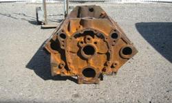 The 283 Im selling is a bare engine block with the main bearing journal caps. The machine surfaces are the original spec, cylinders have not been bored oversize and the deck has not been shaved down. The block has surface rust on it but there is no major