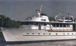 REDUCED by $20K! Classic 1964 luxury motoryacht built by Broward Marine Inc. She is registered as a 76 ft yacht but comes in at 81 feet. Note: Most furniture in photos not included. Additional and recent photos of hull and bottom available upon request.