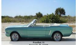 1964 Ford Mustang , 65,341 Address: Sarasota, FL 34238 View our website: www.freerek15.com Notes: 1964 1/2 Ford Mustang Convertible A well appointed example of a 1964 1/2 Mustang Convertible, featuring Dynasty Green exterior, 260 V8, power top,