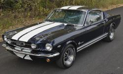 This car is the super sharp '66 Mustang 2+2 Fastback.The paint presents very well, glassy, smooth and beautiful with a metallic that is visible in direct sunlight. The car was taken down to metal before repainting. I have taken a magnet to the