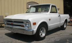 Join the Auction Kings for a fantastic auction Sunday, September 18th from 11:00am -- 7:00pm. (Come early for prime parking!) 1967 WHITE C 10 CHEVY PICK-UP TRUCK - fully restored from the frame up - 327 Chevy Engine - Custom red leather Interior Gallery