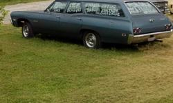 1968 Biscayne wagon from California with matching #s . runs and drives ,has 307 v8 with 3 on the tree and overdrive (rare). This would be a great car to fix up and restore. Thanks for looking