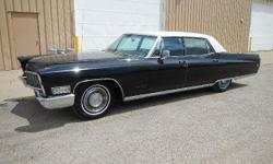 FOR ONLINE AUCTION Wednesday, August 20th Classic Car Auction REPOCAST.COM  1968 Cadillac Fleetwood, 40,574 odometer mileage, VIN# M8121975, 472 V-8 Gas Engine, Automatic Trans, 4 Door, RWD, Power Windows, Wood Trim, AM/FM Radio, Aftermarket Speed