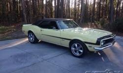 1968 Chevrolet Camaro For Sale in Jesup, Georgia 31545 If you are a true appreciator of classic muscle cars then this 1968 Chevy Camaro is perfect for you! This two door coupe boasts lovely yellow paint that is accented by a black racing
