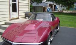Make: Chevrolet Model: Corvette Year: 1968 Body Style: Sports Cars Exterior Color: Maroon Interior Color: Black Doors: Two Door Vehicle Condition: Good  Price: $33,995 Mileage:80,000 mi Fuel: Gasoline Engine: 8