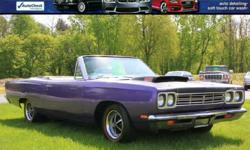 1969 PLYMOUTH ROAD RUNNER CONVERTIBLE Original 4 Speed Car! HURST 4 Speed!! Original 383 Was replaced with 440 6 Pack Motor so NOT #s Matching 95K Miles Solid Car Original Color was IVY Green Excellent White Interior with Bench Seat Power Convertible Top