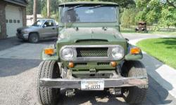 Great Condition! 1969 Toyota. New paint inside & out 2012, 4.2 liter V-6 engine GM, 4L60E auto trans, extra long springs (for softer ride), New 12.5x33 tires, spare, radio, jack, can rack, CB radio, power steering, new rubber door gaskets, roll bar,